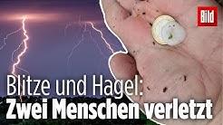 Zwei Menschen durch Blitzschlag verletzt: Unwetter wüten über Nord- und Ostdeutschland