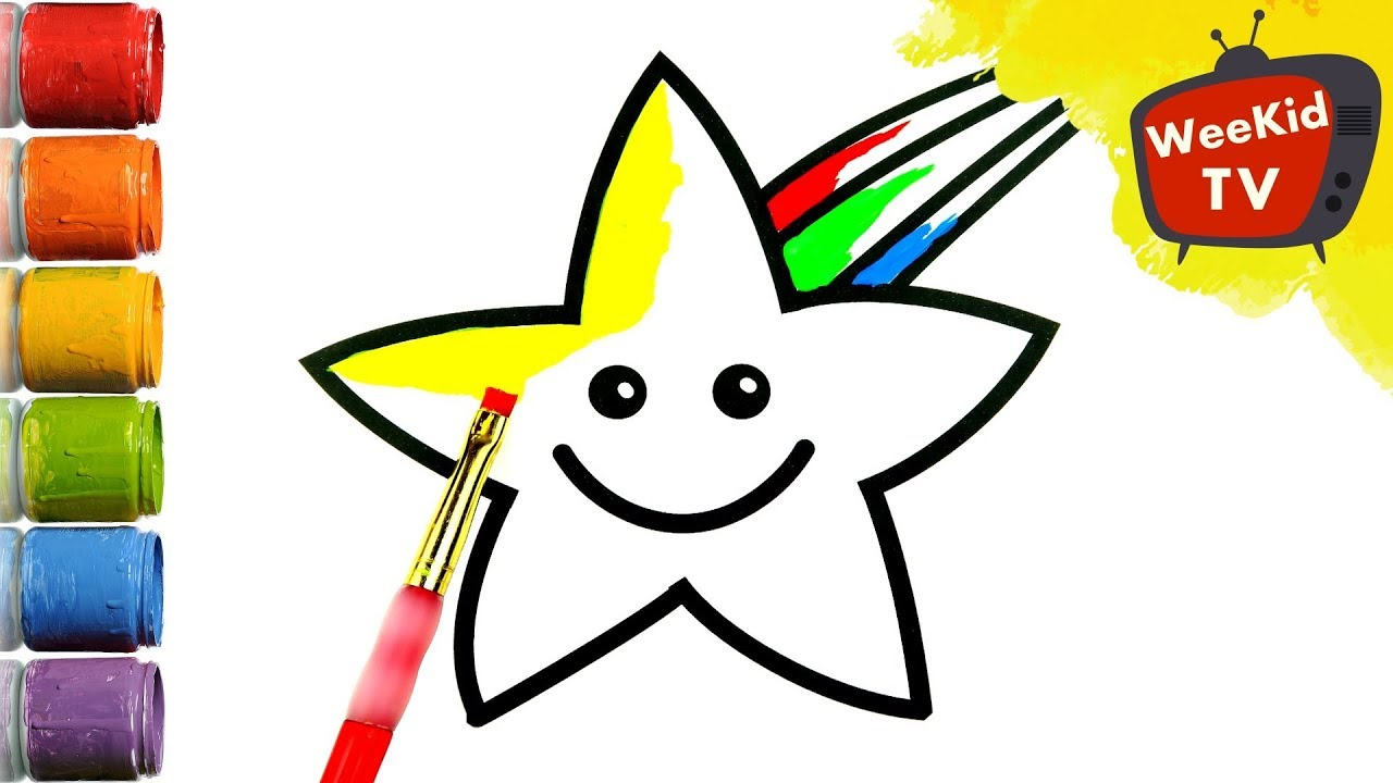 Shooting Star for Kids - How to Draw | Coloring Pages | Colouring ...