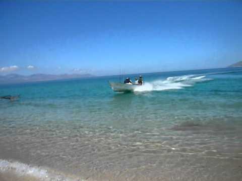 Panga Beach Landing in Las Arenas, Baja California, Mexico