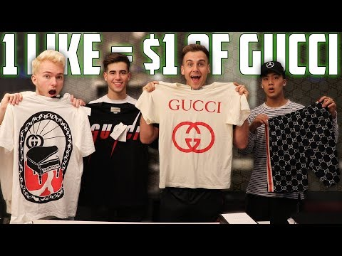 1 Like = 1 Dollar I Spend At Gucci FT. Reaction Time