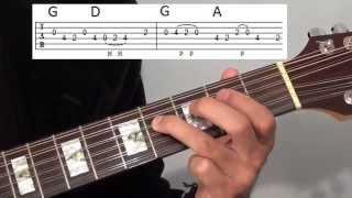 Canon Rock Acoustic Guitar Lesson - Part 3 - Second Canon Solo