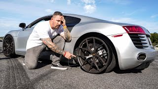 I BLEW THE TIRES OFF MY FRIENDS SUPERCAR DRIFTING!