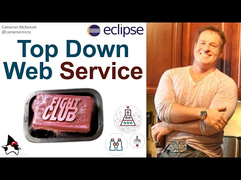 Top-down web service creation approach example in Java using