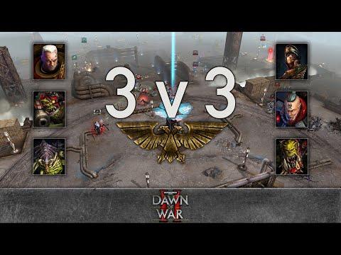 Dawn of War 2 - 3v3 | Fritz + ziil + 2Booty [vs] Bebop + Techno. + Bum9