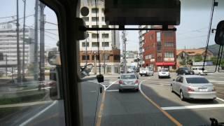 【前面展望】松山市駅~奥道後~今治駅・今治桟橋【せとうちバス】