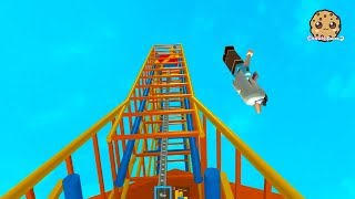 Rollercoaster Disaster ! Fail at Theme Park ! Roblox Game Play Video