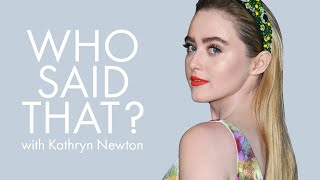 Kathryn Newton Guesses Lines from Ryan Reynolds, Julia Roberts & More | Who Said That | ELLE