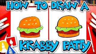 How To Draw A Krabby Patty From SpongeBob