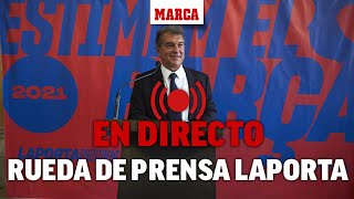 ELECCIONES FC BARCELONA I Laporta presenta su programa deportivo: Márquez, Eto'o y Deco... | DIRECTO