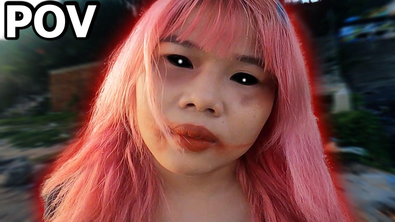 SCARY GIRLFRIEND ESCAPE vs CRAZY PARKOUR POV  || Phim Parkour : ĐỪNG NHÌN LẠI