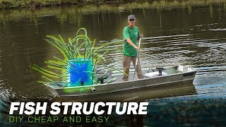 BUILDING CHEAP/FREE FISH STRUCTURE!! (DIY -WOOD AND PLASTIC)
