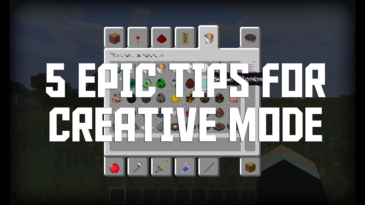 Minecraft Creative Tips Tricks: Minecraft: Five Epic Creative Mode Tips! (Minecraft Tips