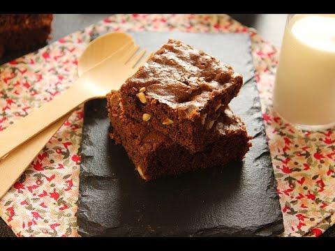 recette-de-brownies-aux-noix-de-pécan-/-brownies-with-pecans-/-وصفة-البراونيز-بالجوز
