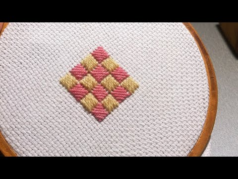 Hand Embroidery: Cross Stitch Design for Cushions & Pillows