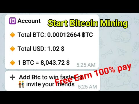 Bitcoin investment telegram bot