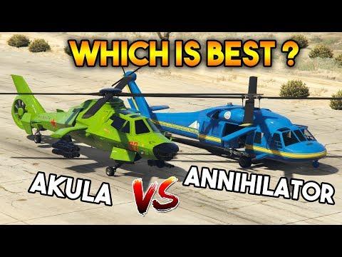 GTA 5 ONLINE : AKULA VS ANNIHILATOR (WHICH IS BEST?)