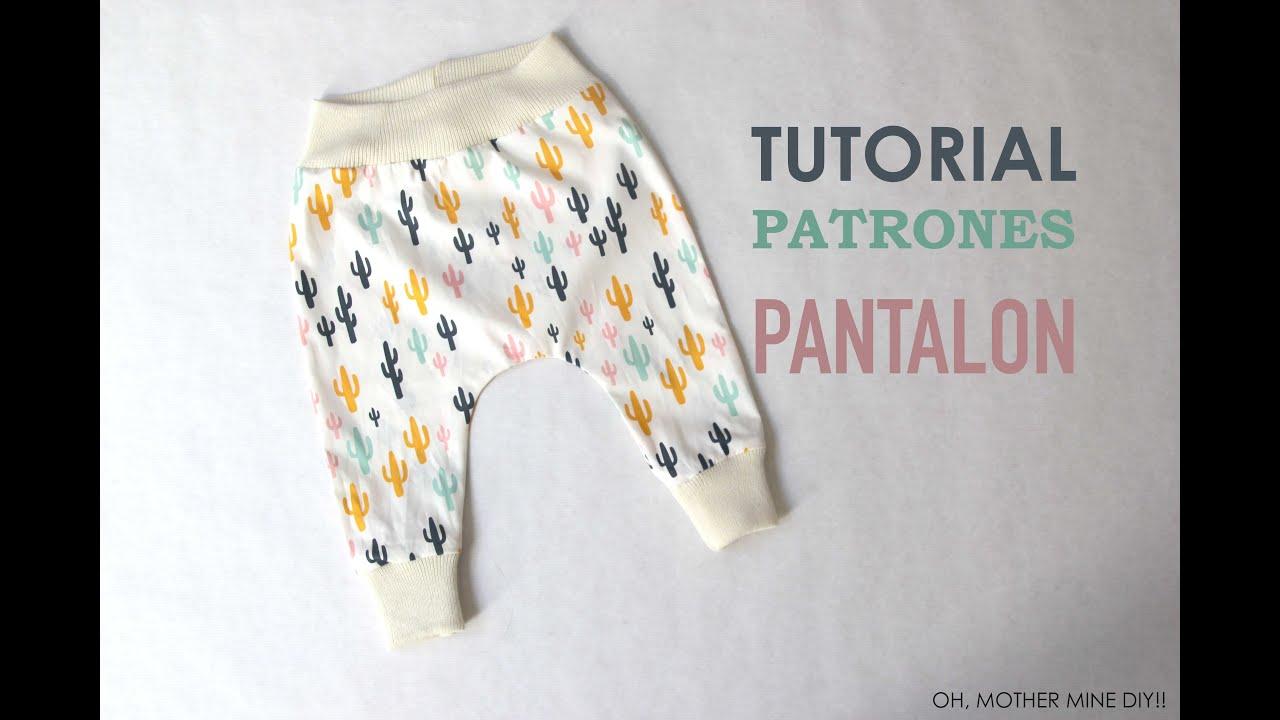 DIY Patrones pantalón legins bebe (modelo 2) - YouTube