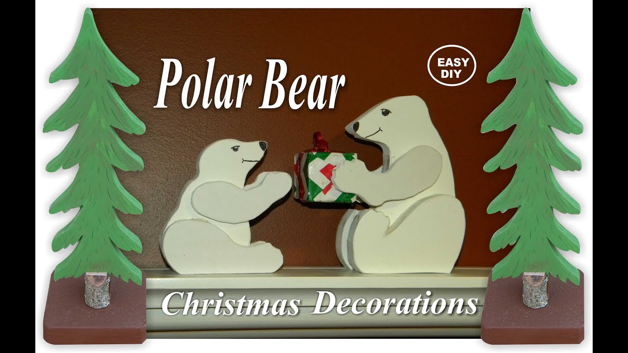 diy easy polar bear christmas decorations