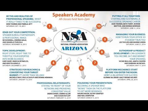 NSA-Arizona Speakers Academy - FAQs