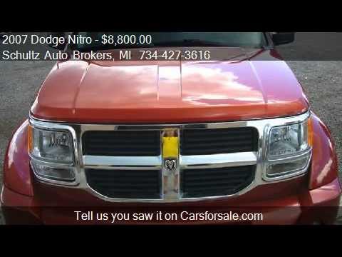 2007 Dodge Nitro SLT 4dr SUV 4WD for sale in Livonia, MI 481