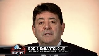 Gambar cover Eddie DeBartolo Jr. Presents Jerry Rice at Hall of Fame