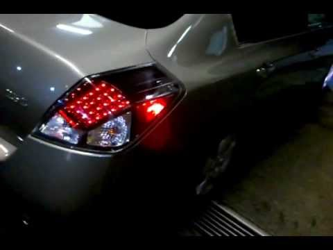 2007 Altima W Led Tail Lights N 8000k Hid S Youtube