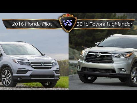 2016 Honda Pilot vs. Toyota Highlander: By the Numbers