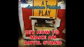 Anvil Stand Plans
