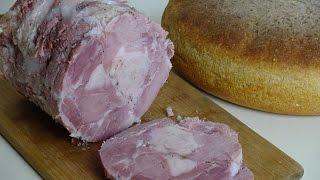 Как сделать домашнюю ветчину из свиной лопатки.