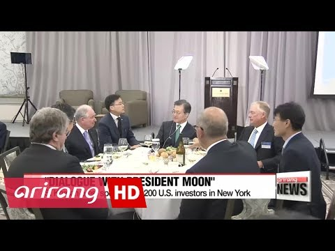 South Korean President Moon urges U.S. business leaders to invest in South Korea...