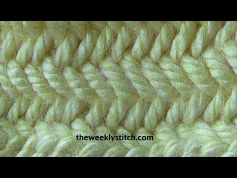 Tunisian Crochet Knit Stitch In The Round : Herringbone Stitch in the Round - YouTube