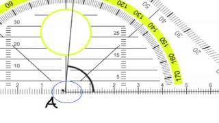Kulman mittaaminen astelevyllä eli geokolmiolla