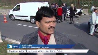 Circulation routière : des policiers des états indiens dans les Yvelines