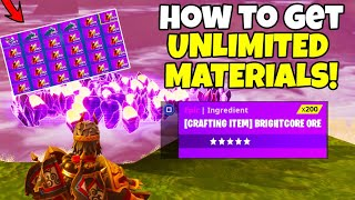 How To Get Unlimited Resources/Materials in Fortnite Save The World (SEASON X)