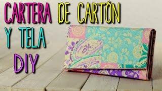 Cartera de Carton y Tela - Monedero Estilo Vintage - DIY Cartonaje - Catwalk