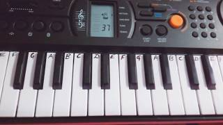 Radhe Radhe Japa Karo On Piano| Casio|Easy Tutorial|Slow|Krishna Bhajan|Harmonium|Keyboard