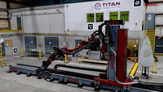 Güdel and Titan Robotics Work Together to Automate De-Painting of Full Aircraft