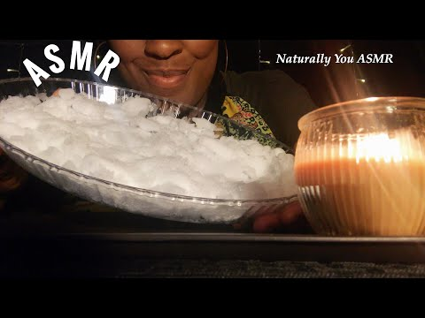 asmr-fresh-#powderyice-*ice-eating-sounds*-soft-crunches -no-talking-#relaxing