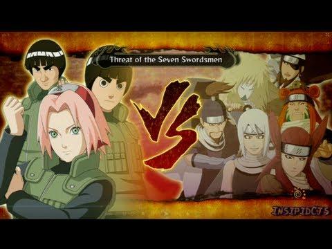 Naruto Ultimate Ninja Storm 3 Sakura Lee and Guy Vs The Seven Swordsmen S-Rank Hero (English)