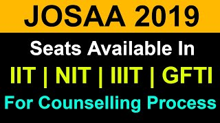JOSAA Counselling 2019 | Total Seats in IIT NIT IIIT and GFTI's by Category