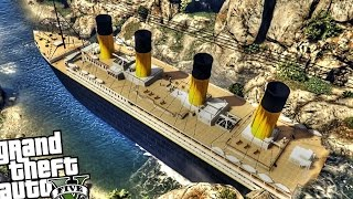 Huge Titanic Ship!! - GTA 5 PC MOD