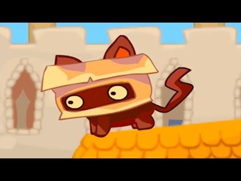 МУЛЬТИК игра видео для детей Маленький Котенок из Оригами бумаги и крошечный король #ПУРУМЧАТА