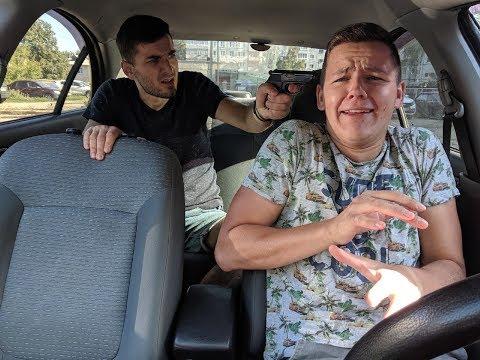 Таксист. 2 серия. Неадекватный пассажир в такси.