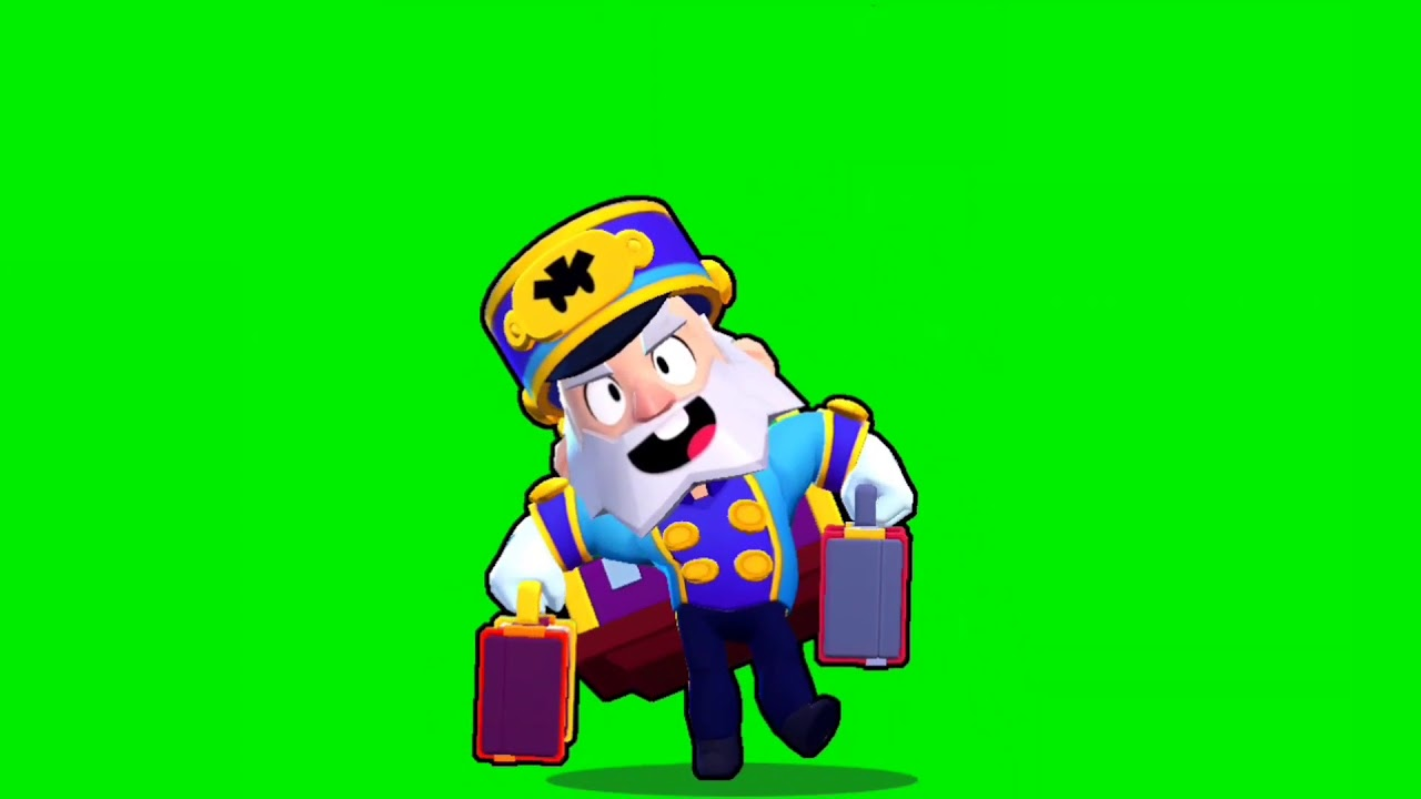 Футаж Портье Майк Бравл Старс | Footage green screen Bellhop Mike Brawl Stars