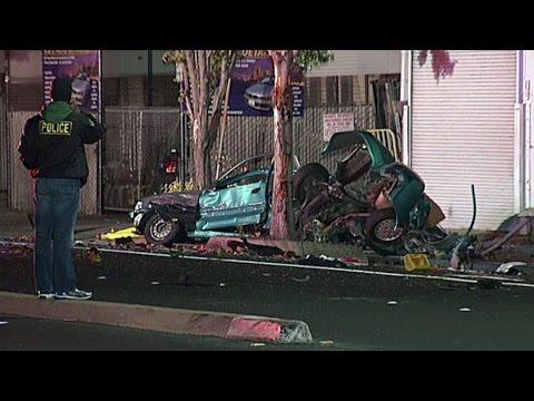 Raw Video: 2 Killed In South San Francisco Crash