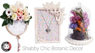 🔴Shabby Chic Vintage Floral DIY Crafts Room Wall Decor Decorating Ideas, Crafts to Sell or Gift
