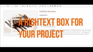 how to add rich text box in asp.net c# - Ckediter