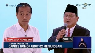 Download Video Debat Kedua Capres Part 2, Serangan Balik Jokowi ke Prabowo Soal Infrastruktur MP3 3GP MP4
