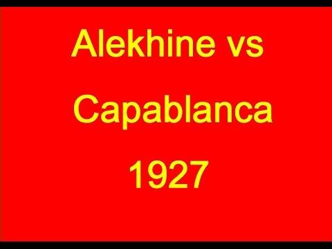 Alexander Alekhine vs Jose Raul Capablanca  1927