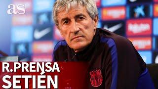 Nápoles vs. Barcelona | Rueda de prensa de Setién | Diario AS